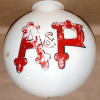 A&P Grocery Milk Glass Advertising Globe-A&P, Atlantic & Pacific Tea Company, advertising globe, antique advertising, milk glass globe