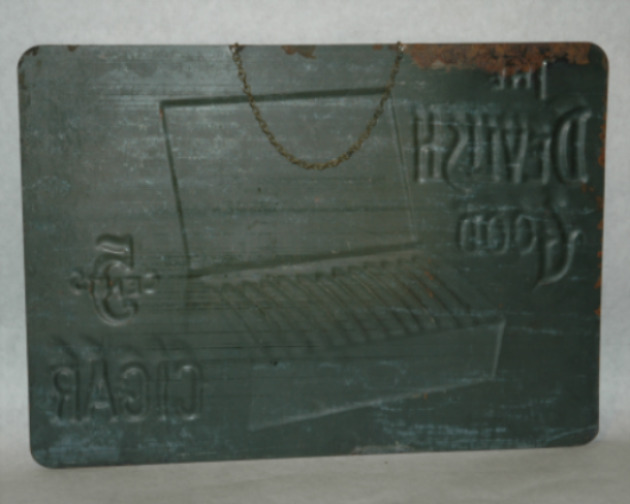 Devilish Good Cigar Tin Advertisement-Tobaccianna, cigar advertising, devilish good cigar, antique advertising