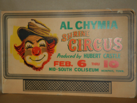Al Chymia Shrine Circus Advertisement-shrine circus sign, shrine circus advertisement, al chymia shrine,