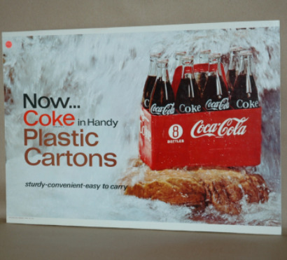Coke Advertising Plastic Cartons-coke in plastic cartons coke advertising, coke sign