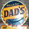 DAD'S Root Beer Bottle Cap Tin Sign-