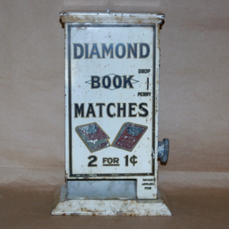 Diamond Book Matches Vending Machine-Match vending machine, diamond matches, coin-op match machine