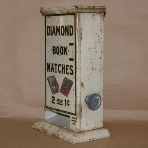 Diamond Book Matches Vending Machine-Match vending machine, diamond matches, coin-op match machine