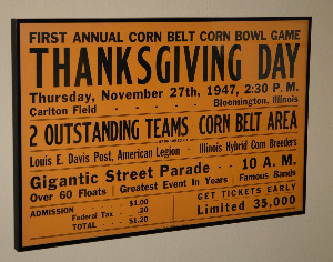 Thanksgiving Day Football Poster 1947-football poster iowa