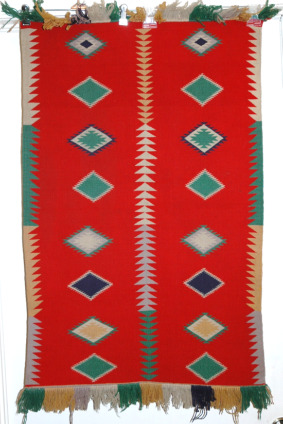 Navajo Germantown Eye Dazzler Textile Rug-germantown eyedazzler, eyedazzler navajo, germantown rug