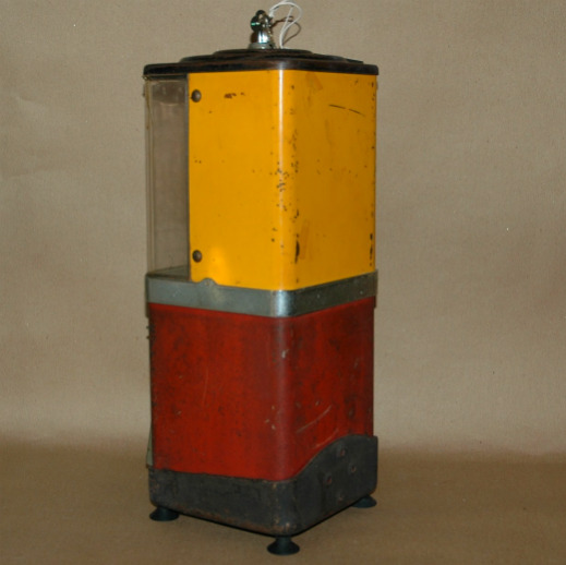 Antique Penny Gumball Machine Vendor-Antique gumball vending machine