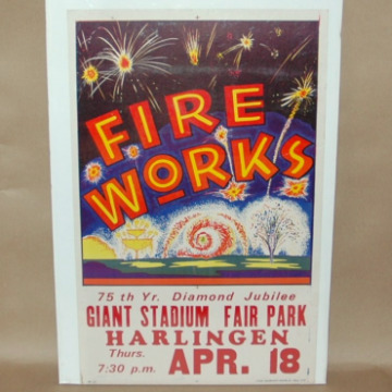 Harlingen Texas Fireworks Diamond Jubilee Poster-harlingen texas diamond jubilee, july 4 litho, Fair park
