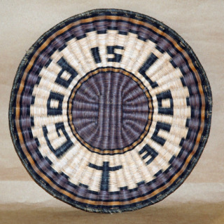 Hopi Wicker Plaque Basket-hopi basket plaque wicker