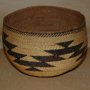 California Hupa Indian Basket-california hupa basket indian native-american