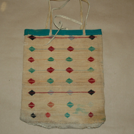 Nez Perce Corn Husk Bag-nez perce corn husk bag, plains corn husk bag, corn husk bag