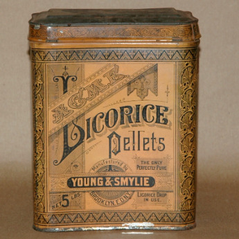 Acme Licorice Pellets Tin-young&Smylie,