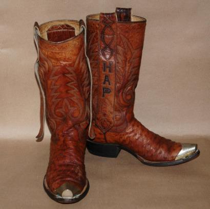 Vintage Ostrich Custom Cowboy Boots-vintage ostrich cowboy boot