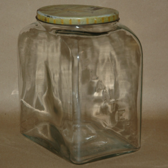 Planters Peanut Jar 1940 Leap Year Jar-planters peanut jar, planters peanut 1940 Leap year jar, glass peanut jar, glass planters jar
