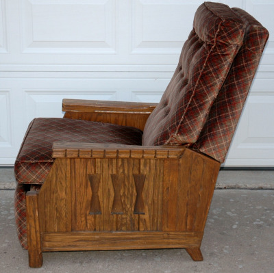 A. Brandt Ranch Oak Recliner-a brandt ranch oak recliner chair