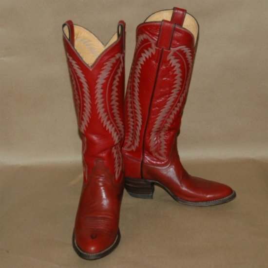 Vintage Justin Cowboy Boots W 7B-vintage justin boots