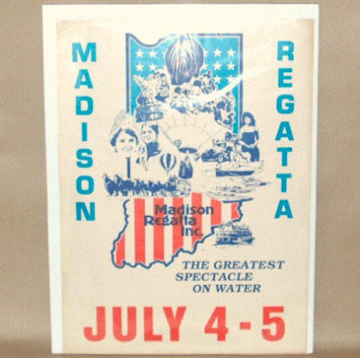 Vintage Hydroboat Regatta Poster Madison Indiana-hydroboat racing poster, madison regatta poster, madison regatta, boat racing