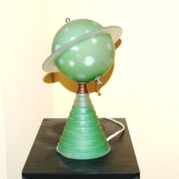 World's Fair  Art Deco Saturn Lamp-art deco saturn lamp, world's fair