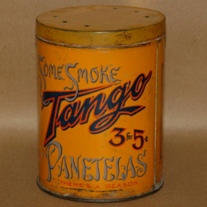 Tobacco Tin Tango Panetelas-tobacciana tobacco tin cigar tin tango panetelas