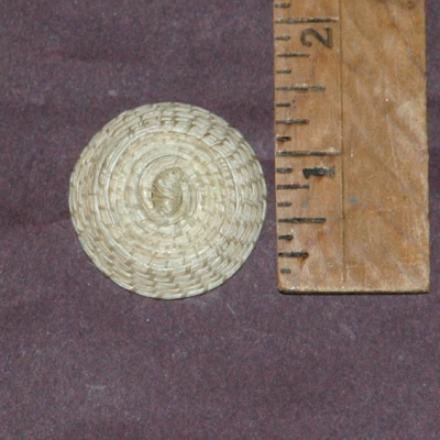 Miniature Horsehair Papago Basket-papago miniature horsehair basket