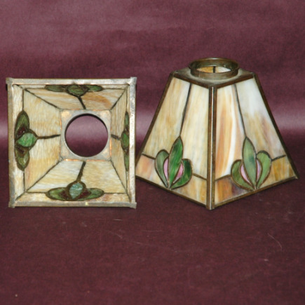 Prairie School Arts & Crafts Leaded Glass Sconce Shades-prairie school arts & crafts lamp shades