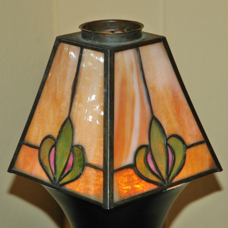 Prairie School Arts & Crafts Leaded Glass Sconce Shades-prairie school arts & crafts lamp shades